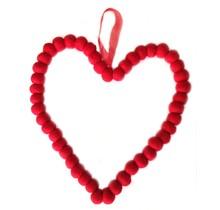 DEKORANDO Kerstversiering hart 20 cm Rood