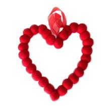 DEKORANDO - новогоднее украшение | сердце 15 см | красный
