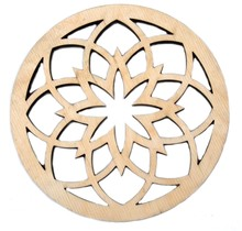 DEKORANDO - Sperrholz | Untersetzer | Ornament Natural - 11cm