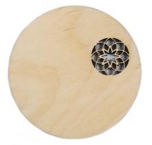 DEKORANDO - Sperrholz | Untersetzer | Ornament (Ecke) Natürlich - 11cm