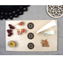 DEKORANDO - Plywood | serving plate | Ornament Natural