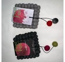 DEKORANDO - coaster | black 2 pc.