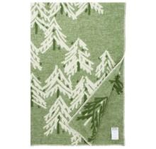 KUUSI - Одеяло шерстяное - Зеленое - 130x200