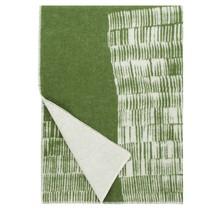 UITTO Wollen Deken Groen-Wit - 130x180