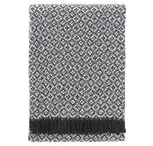 KETO Wool Blanket Dark Grey-White - 130x170