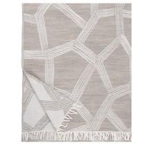HIMMELI Wool Plaid Beige - 140x180