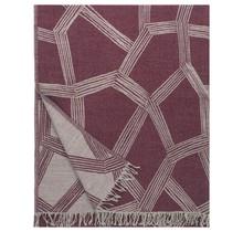 Couverture en laine HIMMELI Bordeaux - 140x180