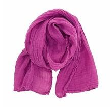 PELLAVA Linen scarf-Pink 40x180