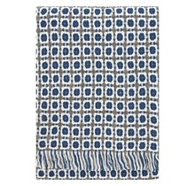 CORONA Wool Blanket Rainy blue Grey - 130x170