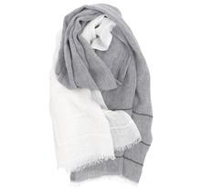 TSAVO шарф серо-белый - 70x200