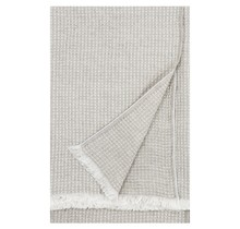MAIJA - Cotton Blanket - Beige/Linen - 130x200