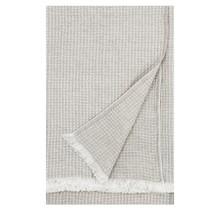 MAIJA - Couverture en coton - Beige / Lin - 130x200