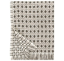 CORONA - Couverture en laine - Beige Blanc Marron - 130 x 170