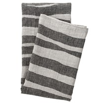 TWISTI - Банное полотенце - Linnen / Zwart - 95x180
