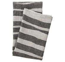TWISTI - Bath Towel - Linen/Black - 95x180