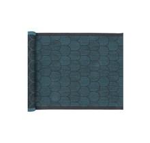 PAANU - Sauna Seat Cover Zwart en Petrol Blauw  - 48 x 150