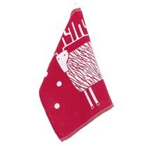 PORO Reindeer Kitchen Towel Red-White - 48x70