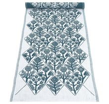 KUKAT Tablerunner Petroleum White 48 x 150 cm