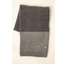 WOOLISH, Fishbone, Wollen Plaid светло-серый / угольно-серый, 130 x 170