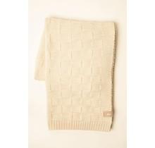 WOOLISH, квадрат, шерстяной плед белый / кремовый, 130 x 170