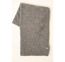 WOOLISH, Carré, Wollen Plaid licht grijs, 130 x 170