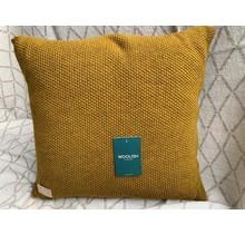 Woolish, kussen, 40x40cm, dijon, mosterdkleur