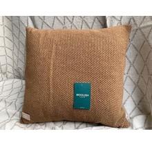 Woolish, Kissen, 40x40cm, brauner Zucker