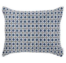 CORONA  Sierkussensloop grijs/blauw - 50 x 40 cm