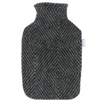 MARIA - Hot Water Bottle - Grey/Black