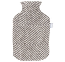MARIA - Hot Water Bottle - Brown/White