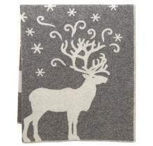 VALKKO - Wool Blanket - Grey-White - 130x180