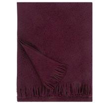 CORONA UNI - Couverture en laine - Bordeaux - 130x170