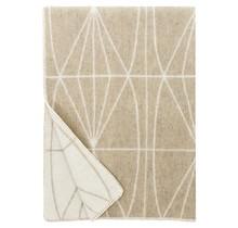 KEHRÄ - Wool Blanket - Beige - 130x180