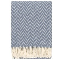 IIDA - Wool Blanket - Blue - 130x200