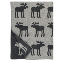 HIRVI – Wollen Plaid – Zwart – 130x180