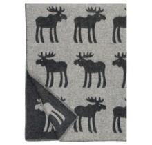 HIRVI - Wool Blanket - Black - 130x180