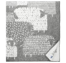 PÄKÄPÄÄT - Wolldecke -  Grau - 130x180