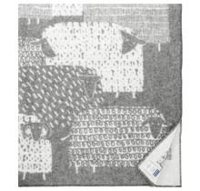 PÄKÄPÄÄT - Wool Blanket -  Grey - 130x180