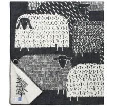 PÄKÄPÄÄT Wollen Plaid – Zwart- 130x180