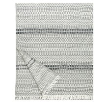AINO - Couverture en laine - Gris noir - 130x170
