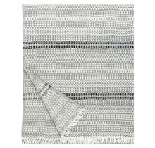 AINO Wollen Plaid – Grijs Zwart – 130x170