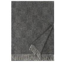 MARIA - Wollen Plaid – Zwart – 130x180