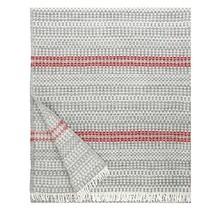 AINO - Шерстяное одеяло - Серо-красный - 130x170