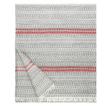 AINO - Wool Blanket - Grey red -  130x170