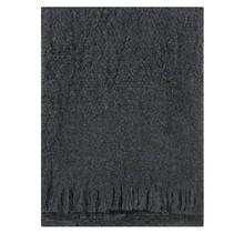 CORONA UNI - Wollen Plaid - Donker Grijs - 130x170