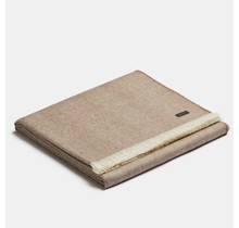 ALPAKA, Royal Fishbone, Alpaca-wollen Plaid cocoa-white, 130 x 180