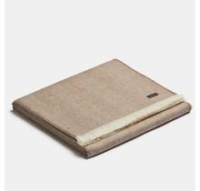 ALPAKA, Royal Fishbone, Alpaca-wollen Плед какао-белый, 130 x 180