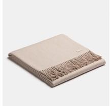 ALPAKA, Exclusive Fishbone, Alpaca-wollen Plaid white-beige, 130 x 200