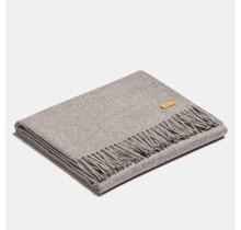 ALPAKA, Exclusif, Plaid en laine d'alpaga - Argent - 130 x 200