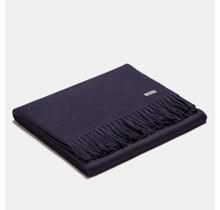 ALPAKA, Exclusivité, Plaid alpaga-wollen bleu marine, 130 x 200